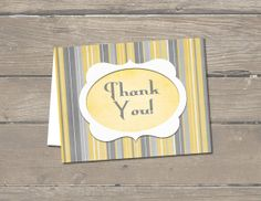Simply elegant thank you card.  Easy to download and print as many as you want!  Etsy - A Higher Calling.  $3.99