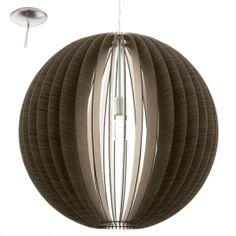 Lámpara colgante esférica lamas madera. 70cm dimámetro