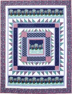 This is an awesome FREE quilt pattern! Lover's Lake is a bed-size quilt, featured in Love of Quilting May/June 2016, and it's available as a free download from the Fons & Porter website.