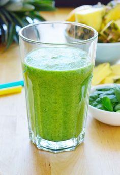 Zelené piňacolada smoothie