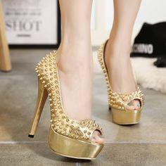 #Punk #Rivet #Pumps #Shoes #Sandals #Bridal #Wedding #party #Cool #Like #Ottd 10%off when subscribe @Milanblocks
