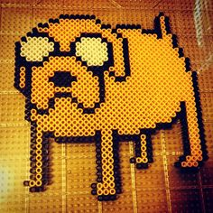 Jake Adventure Time perler beads by christianalberro