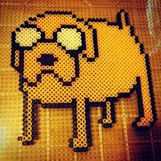Jake Adventure Time perler beads by christianalberro