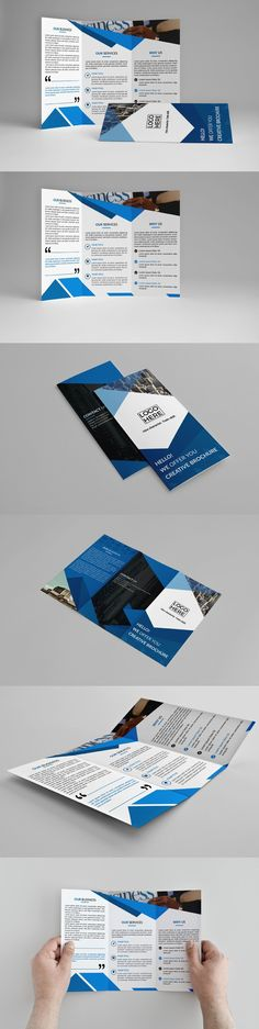 Business Trifold Brochure Template Brochure template, Brochures