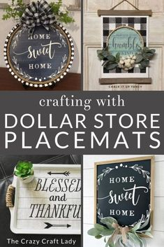 Genius! Dollar Store Placemats - 6 Crafts and DIY Decor Ideas