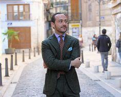 http://chicerman.com  shibumi-berlin:  Benedikt in Valencia  Wearing a Shibumi Printed Tie and Light Blue Pocket Square  http://ift.tt/1gHmjU0  #menshoes