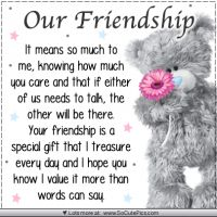 24 ideas quotes birthday wishes friends tatty teddy for 2019 Best Friendship Quotes, Friend Friendship, Bff Quotes, Cute Quotes, Funny Friendship, Friendship Birthday Quotes, Friendship Cards, Qoutes, Special Friend Quotes