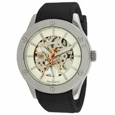 """Breda Women's """"Addison"""" Mechanical See-Through Rubber Strap Watch, (casual watch, dress watches) Mechanical Hand, Mechanical Watch, Amazing Watches, Beautiful Watches, Dream Watches, Women's Watches, Wrist Watches, Fashion Watches, Fab Life"""