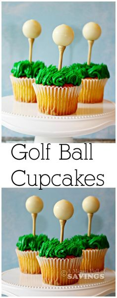 Golf Ball Cupcakes | Easy Dessert  Great treat to make for Father's Day or any birthday parties or just fun cupcakes to make anytime of the year!