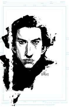 Kylo Ren by Leinil Yu. (1,000 pins now. There is no redemption for me. I cannot be saved from the Star Wars trash heap. There is still hope for you. Save yourselves. Fly, you fools.)