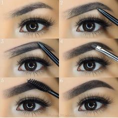 Make Up; Make Up Looks; Make Up Augen; Make Up Prom;Make Up Face; Short Eyebrows, Types Of Eyebrows, Black Eyebrows, How To Color Eyebrows, Natural Eyebrows, Straight Eyebrows, Korean Eyebrows, Blonde Eyebrows, Eyebrow Makeup Tips