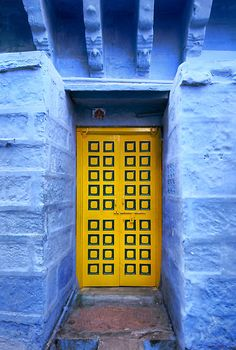 The Yellow Door by Heather Prince ~ Jodhpur, India
