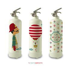 Extintores: Linea de Extintores Tutticonfetti para la empresa francesa Fire Design.