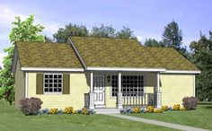 House Plan 94451 | Ranch Plan with 1040 Sq. Ft., 4 Bedrooms, 2 Bathrooms