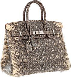 Hermès Extremely Rare 25cm Ombre Lizard Birkin Bag