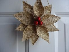 Christmas Ornament Burlap Christmas by adorableaDOORnments