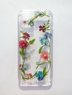 Annys workshop手作押花手機保護殼,適用於Apple iphone 5/5S,唯一花邊, Pressed flower phone case By Annys workshop