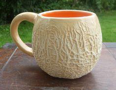 Cantaloupe Mug by vegetabowls on Etsy, $28.00