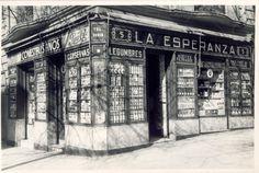 Antigua foto de Comestibles Finos La Esperanza. Plaza de Olavide 5. De los últimos ultramarinos del barrio de Chamberí.
