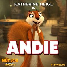 Katherine Heigl plays Andie in #TheNutJob, an auburn beauty with intelligence and warm heart. See her in theaters January 17!