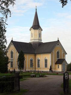 Northern Ostrobothnia province of Finland - Pohjois-Pohjanmaa Grave Monuments, Cathedral Basilica, Church Architecture, Church Building, Kirchen, Mansions, Country, House Styles, Graveyards