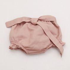 Baby Linen Bloomer - Vintage Pink