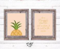 Pineapple Print Set, 8x10, Instant Download, Printable by playfulprintsart on Etsy Rustic Christmas, Christmas Cards, Childrens Room Decor, Pineapple Print, Quote Prints, Order Prints, Decoration, Printables, Display