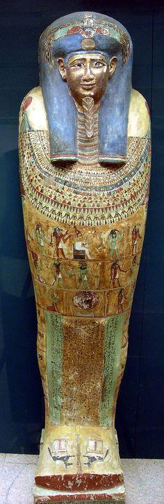 Coffin of Irtirutja, Macedonian-Ptolemaic era, 332–30 BC, Northern Upper Egypt, Akhmim (Khemmis, Panopolis), Maspero 1885–1886.