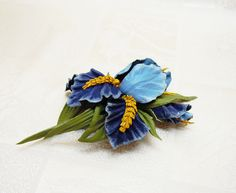 #Leather_flower_brooch #leather_jewelry #floral_brooch #Leather_flower