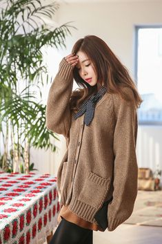 Wool Pocket Knit Cardigan