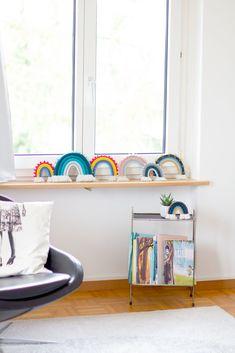 Rainbow Nursery, Rainbow Wall, Nursery Decor, Wall Decor, Room Decor, Pink Wall Art, Rainbow Painting, Bohemian Living, Baby Cribs
