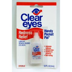 Did you know that eye drops like Clear Eyes are only available by prescription in a lot of countries? Good thing it is easy to get these to help for irritated eyes when out on the road.