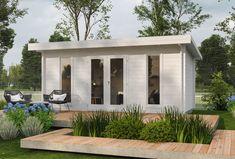 Backyard Office, Garden Office, Fenetre Double Vitrage, Gazebo, Pergola, Cafe Shop Design, Rooftop Design, Container Architecture, Tiny House Cabin