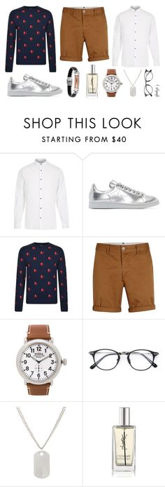 """akeem: sweater and shorts"" by gladyzjetson ❤ liked on Polyvore featuring River Island, Raf Simons, PS Paul Smith, Topman, Shinola, Loren Stewart and Yves Saint Laurent"