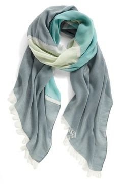 Neutral | Nordstrom Colorblock Scarf available at #Nordstrom