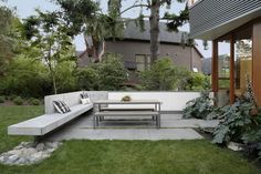 Main StreetHouse - desire to inspire - desiretoinspire.net - SHED Architecture & Design - concrete bench seating