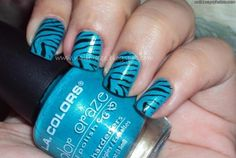 Fun nails. Tiger nails.  Nails.  Love.