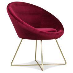 Fauteuil en velours rouge | KOTECAZ  #décoration #déco #deco #fauteuil #fauteuilvelours Sheepskin Throw, Deco Retro, Retro Diner, Making Waves, Blue Rooms, Decoration, Dining Chairs, Burgundy, Art Deco
