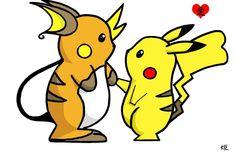 Pikachu and Raichu - Would be an awesome tattoo! Pikachu Raichu, Original Pokemon, Watch Cartoons, Catch Em All, Cool Baby Stuff, Best Funny Pictures, Creatures, Animation, Fan Art