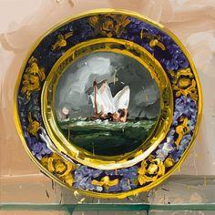 Jan De Vliegher, Sèvres, Pêches 2012, Oil on canvas