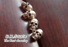 Silver Skull Earring, 925 Silver Skull Ear Studs, Gothic Silver Jewelry, Unique Jewelry, Steam Punk Jewelry, Halloween