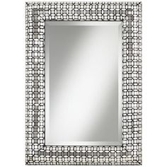 "$300 Jewel Glass 33"" High Mosaic Wall Mirror"
