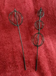 Handmade Miniature Topiary Picks Set of 2 - Fairy Garden Accessories. $3.00, via Etsy.