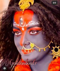 Jay Maa Kali, Pooja Sharma, Gray Hair, Beautiful Images, Carnival, Princess Zelda, Face, Painting, Fictional Characters