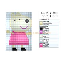Suzy Sheep Peppa Pig cartoon character free perler beads design download