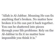 #Allah  #Hardships #Problems  #Al-Jabbar