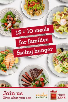 We're teaming up with Feeding America to provide 40 million meals for families in need this holiday season. Frugal Meals, Budget Meals, Cooking Recipes, Healthy Recipes, Healthy Meals, Inexpensive Meals, Healthy Eating For Kids, Dinner Dishes, Family Meals