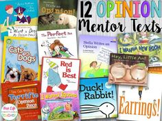 EEEK! We started opinion writing last week...only my favorite writing genre to teach! I've got my favorite mentor texts ready to go, and even found a few new books I can't wait to use! Traditionally,