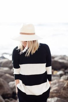 love the stripes. love the hat.