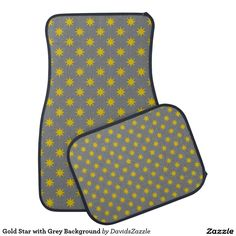 Gold Star with Grey Background Front and Rear Car Mat Available on many products! Hit the 'available on' tab near the product description to see them all! Thanks for looking!  @zazzle #art #star #pattern #shop #auto #automotive #car #mats #front #rear #air #freshener #accessory #accessories #enthusiast #fashion #style #women #men #shopping #buy #sale #gift #idea #lifestyle #fun #sweet #cool #neat #modern #chic #color